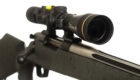 257 weatherby rifle with fixed reticle scope